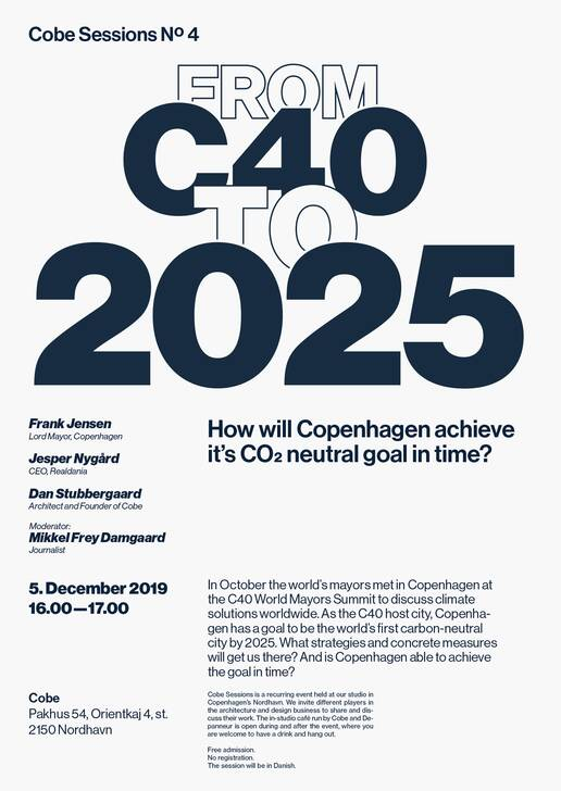 cobe office talk poster from c40 to 2025