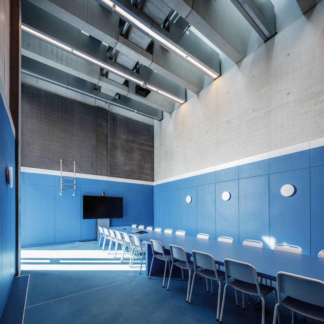 cobe adidas halftime conference room blue